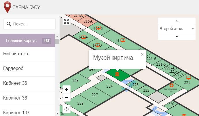 Интерактивная карта СПбГАСУ